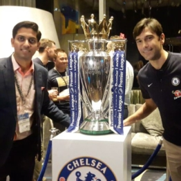 Paulo Ferreira former Chelsea FC player and Club Ambassador